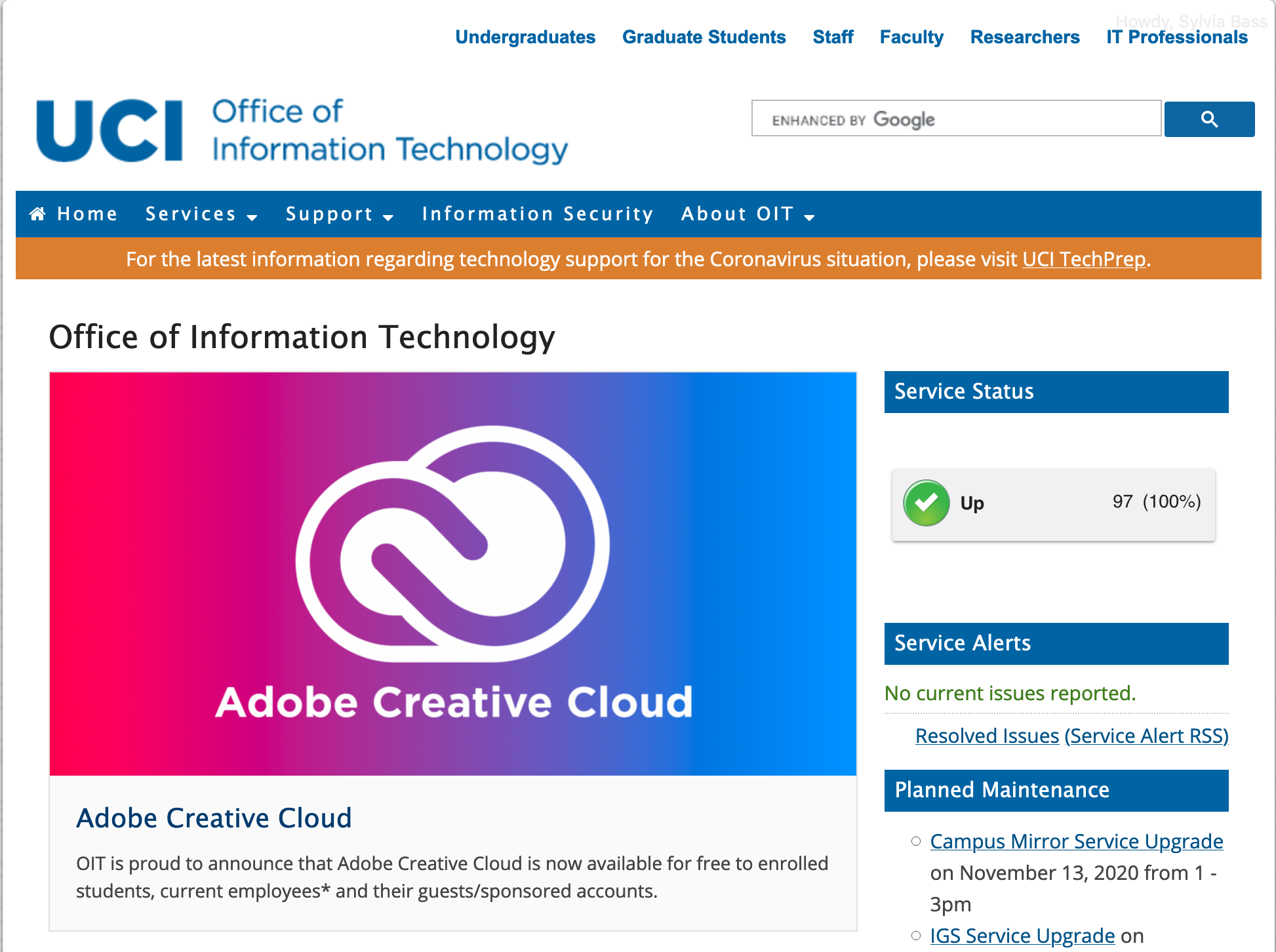 Office of Information Technology website