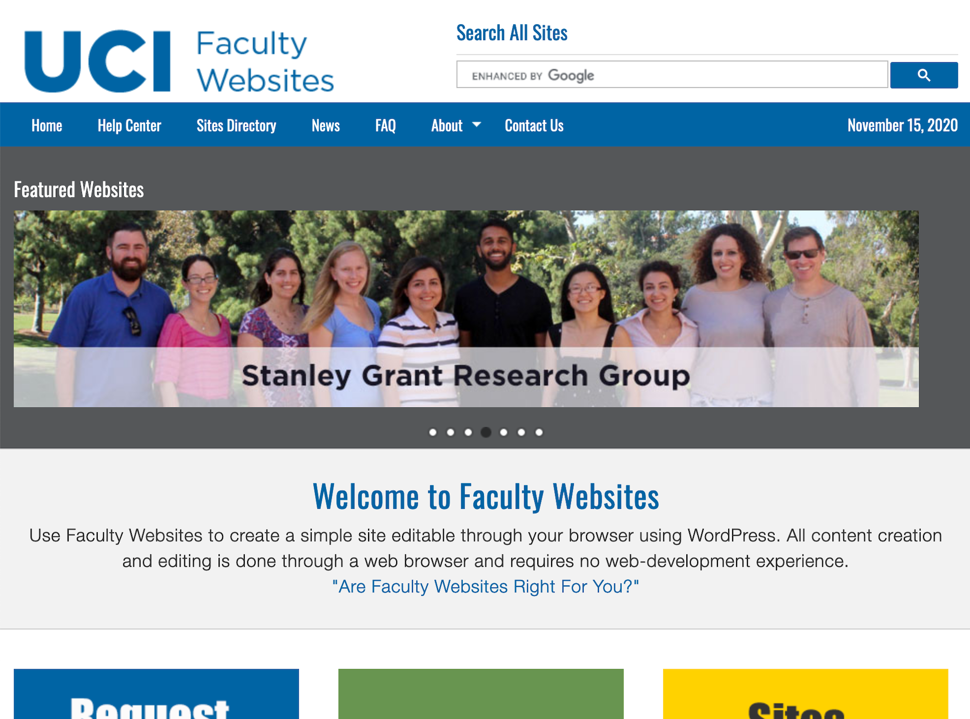 Faculty Websites